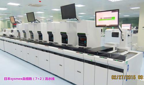 日本Sysmex(7+2)全自动血细胞流水线